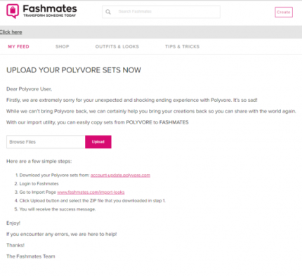 Polyvore Users Transfer Your Sets to Fashmates